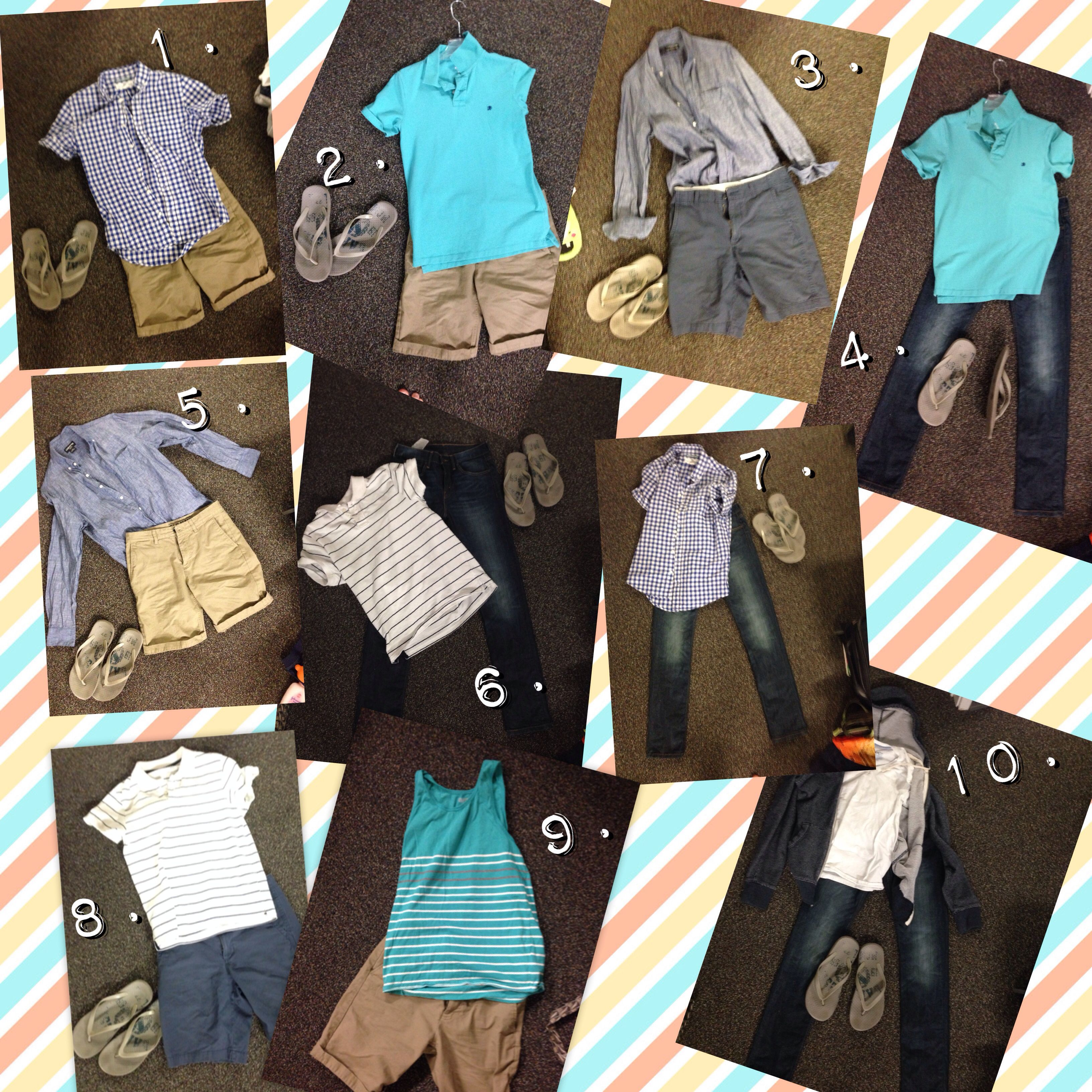 travel light for summer vacation easy outfits men s fashion