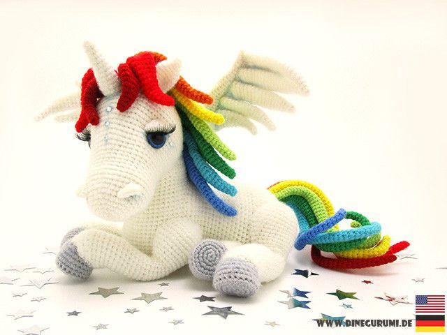 crochet tutorials  rainbow unicorn crochet pattern  a