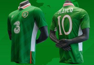 Republic Of Ireland Euro 2016 Umbro Home Kit Soccer Jerseys Football Fashion Republic Of Ireland Sports Shirts