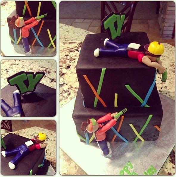 lazer tag cakes Laser Tag Cake party ideas Pinterest Lazer tag