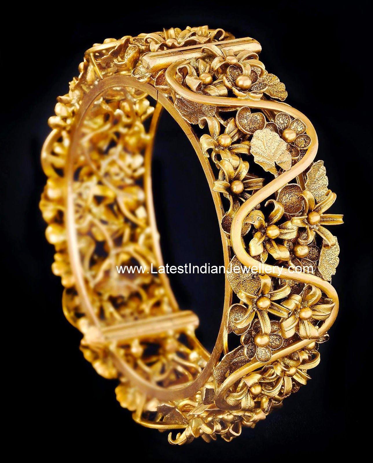 gold bangle inspired by garden gold bangles floral. Black Bedroom Furniture Sets. Home Design Ideas