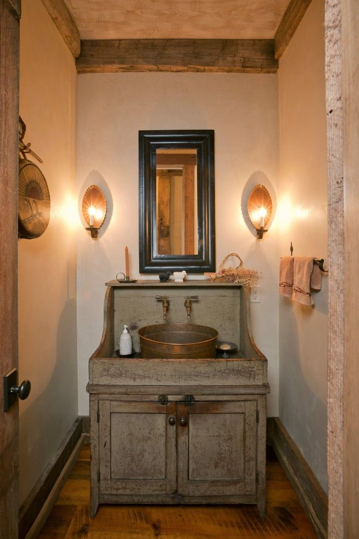 9 Charming And Natural Rustic Bathroom Design Ideas: Furniture-unusual-bathroom-vanities-small-vintage-designs