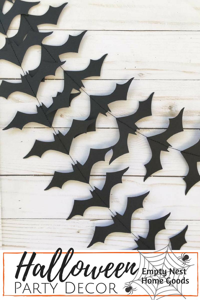 halloween garland • black bat garland • halloween party decor