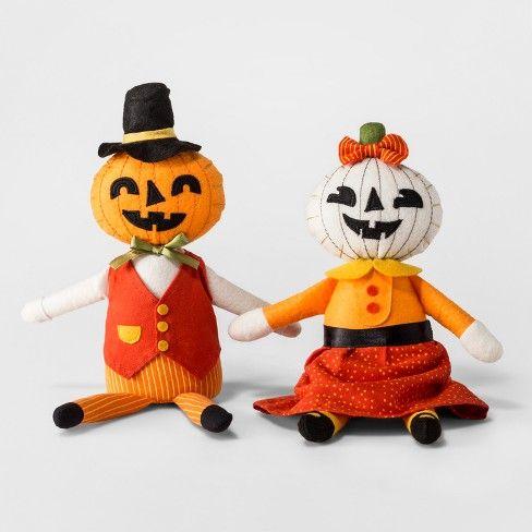 Halloween 2pk Halloween Mr and Mrs Pumpkin Soft Figures - Hyde and
