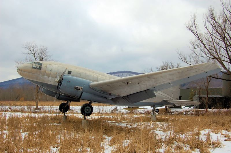 C46F in the snow Military aircraft, Aircraft, Plane
