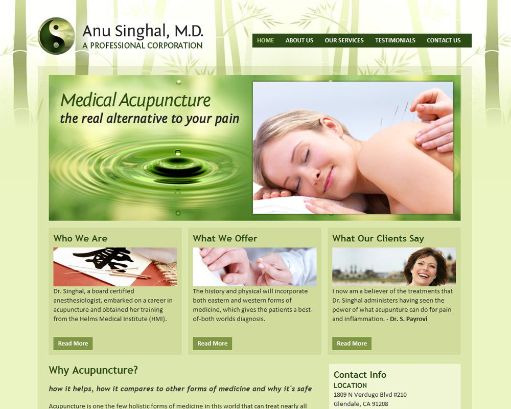 acupuncture website - Google Search | web design | Pinterest ...