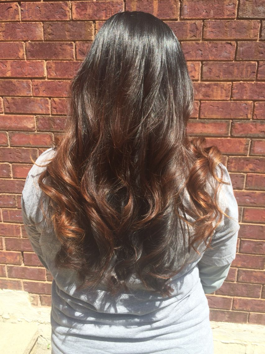 Subtle dark brown mocha Balayage done by me
