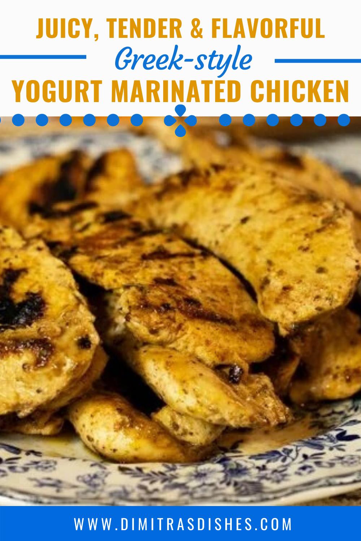 Greek Style Yogurt Marinated Chicken Recipe Marinated Chicken Recipes Yogurt Marinated Chicken Marinated Chicken