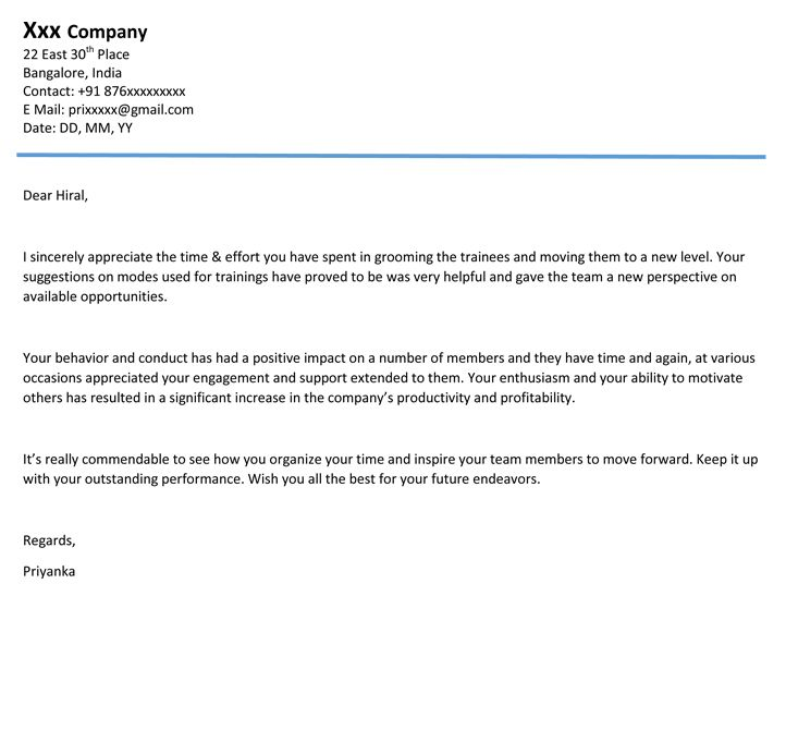 Appreciation letter by Mr Amit Gothi, CEO of Stone Studio - appreciation email