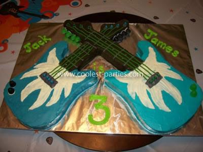 Rock Star Birthday Party cake When my son Jack was turning 3 he was