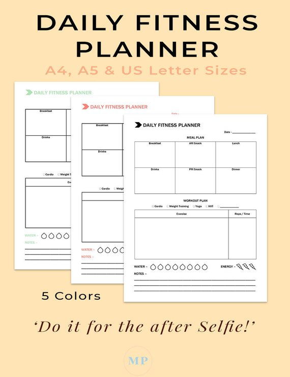 image about Printable Workout Planner referred to as Pin upon guneet