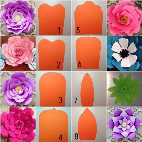 Flores flores de papel pinterest flowers craft and flower different shaped petal templates to make different types of paper flowers mightylinksfo