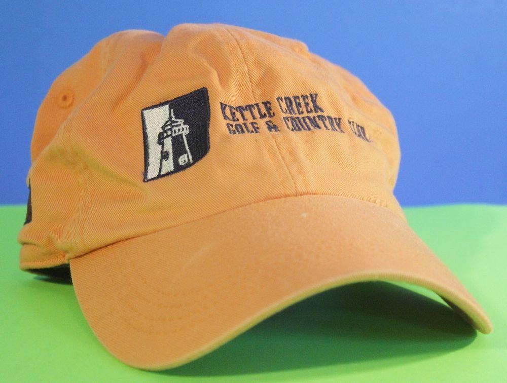 Kettle Creek Golf Hat Country Club Cap Strapback Orange Adjustable Ahead  Vintage  Ahead  Strapback 3a091dddaf7