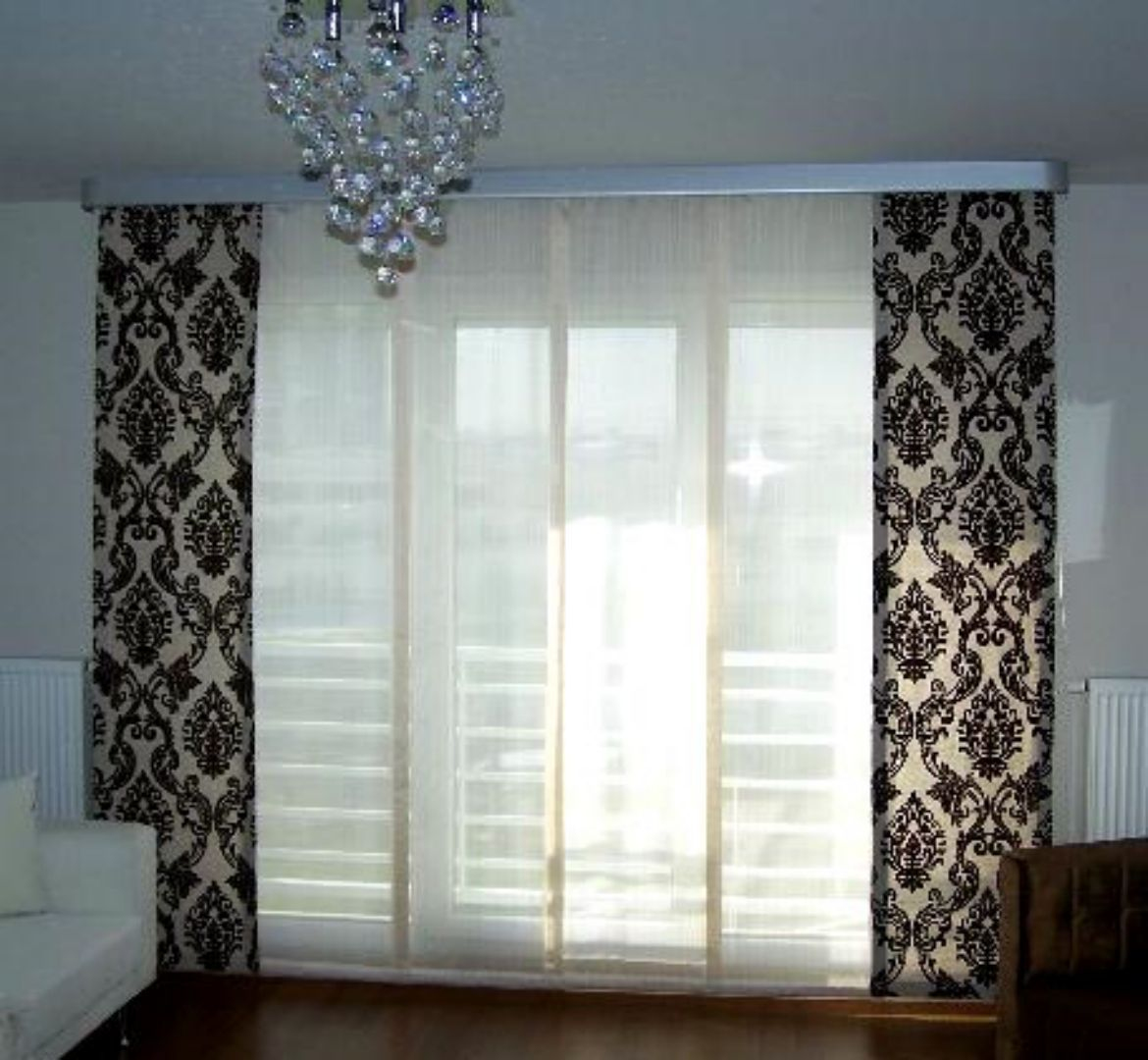 Modern patteren curtain with sheer in between Modern Curtain ... for Modern Curtains For Bedroom 2015  570bof