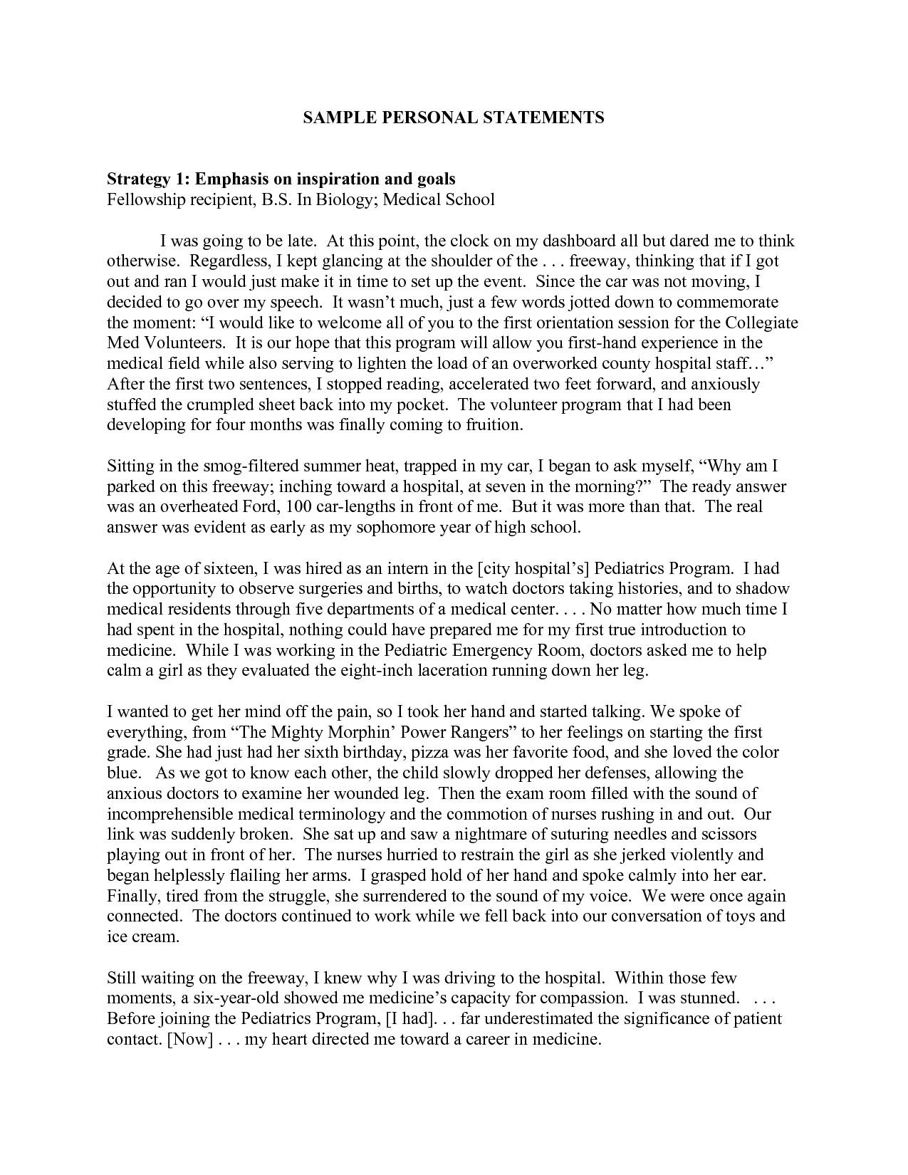 personal statement examples sample personal statements – Personal Statement Template