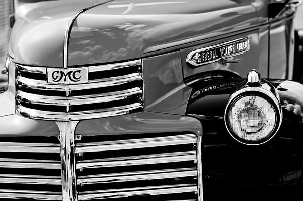 1942 Gmc Grille Emblem By Jill Reger Gmc Photographs Gmc Images Gmc Big Trucks Black And White Photographs