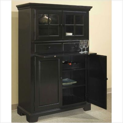 Genial Broyhill Cuisine Storage Cabinet In Ebony Traditional Pantry