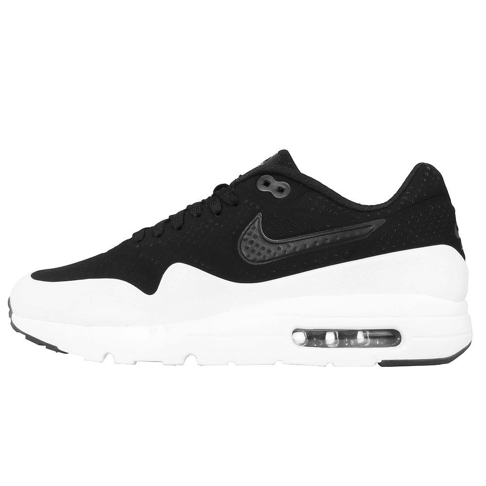 save off 4855d a061d Nike Air Max 1 Ultra Moire Black White Men Running Shoes Killer Whale 705297 -011
