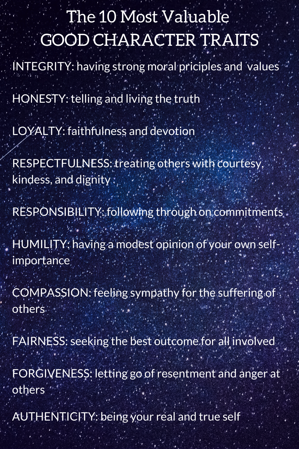 25 Good Character Traits List Essential For Happiness Good Character Traits Character Trait Character Traits List