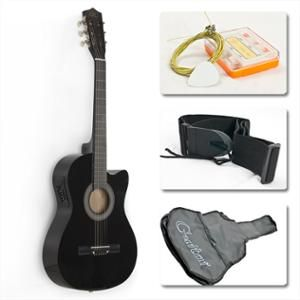 Best Choice Products 38in Beginners Acoustic Electric Cutaway Guitar W Case Extra Strings Strap Tuner Pick Black Walmart Com Acoustic Electric Guitar Acoustic Guitar For Sale Acoustic Guitar