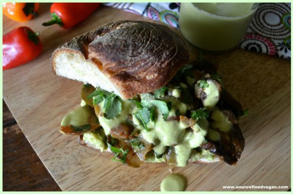 Mexican-Spiced Roasted Veggie Sandwich An Unrefined Vegan