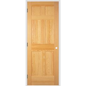Reliabilt 24 X 80 6 Panel Solid Wood Right Hand Interior Single Prehung Door 138 Prehung Doors Prehung Interior Doors Doors Interior