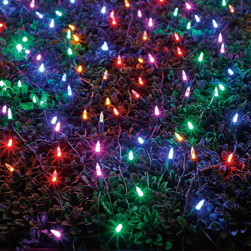 64 In X 175 In 400 Light Led Multi Color Christmas Tree Wrap With Color Changing Lights Colorful Christmas Tree Christmas Lights Outdoor Christmas Lights
