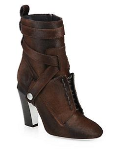 Fendi - Diana Calf Hair Ankle Boots