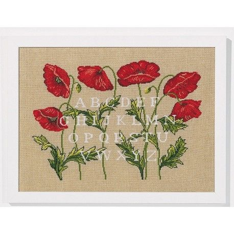 ABC coquelicots - Broderie Marie Coeur