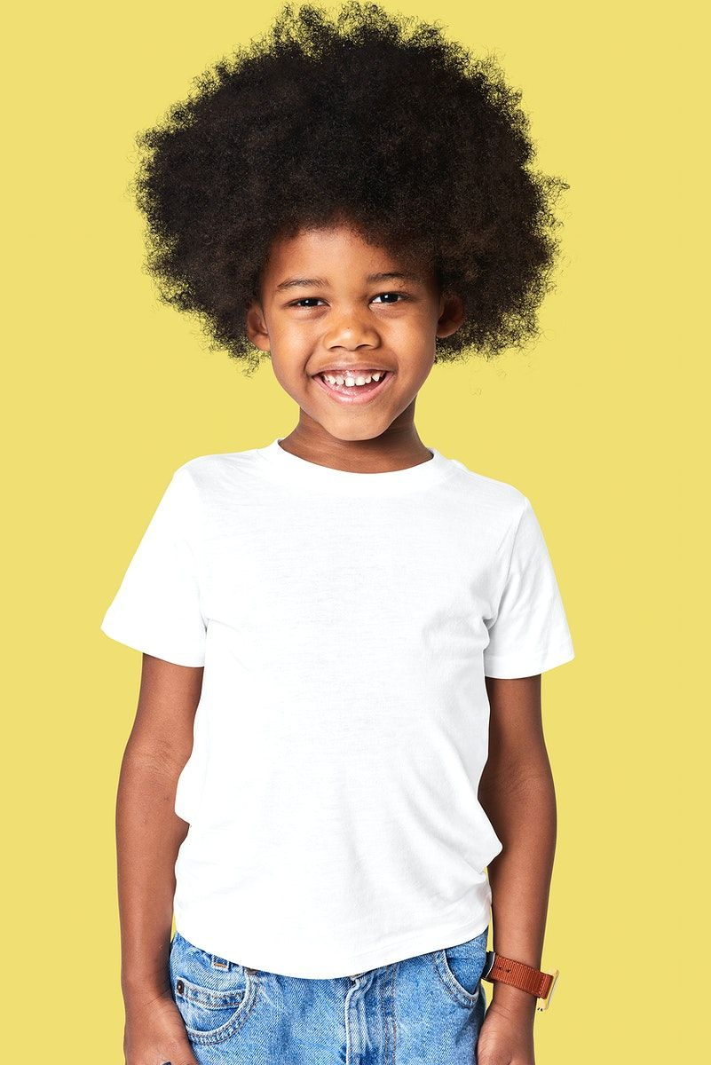Download Download Premium Illustration Of Boy S T Shirt Psd Mockup In Studio Clothing Mockup Boys T Shirts Black Kids