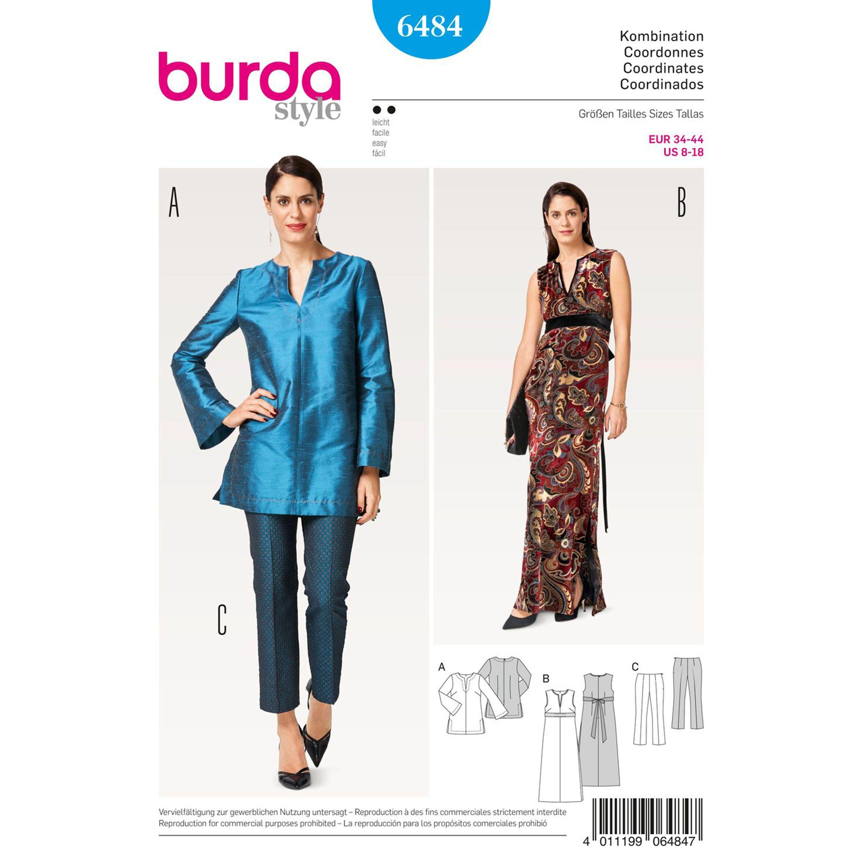 Burda Burda Style Pattern B6484 Misses\' Evening Separates | Sewing ...