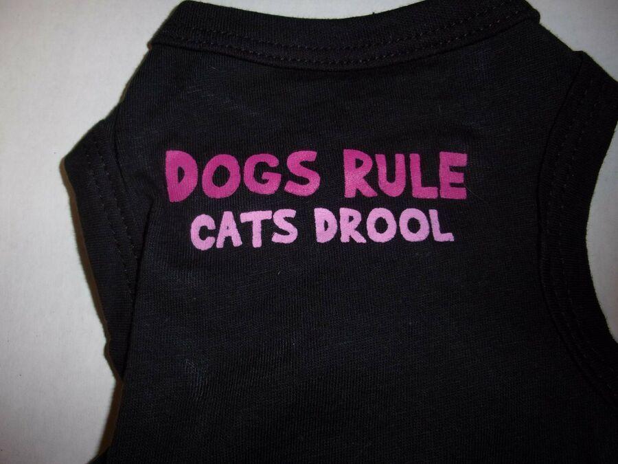 Lightweight Dogs Rule Cats Drool Tank Shirt Dog New Puppy Xs