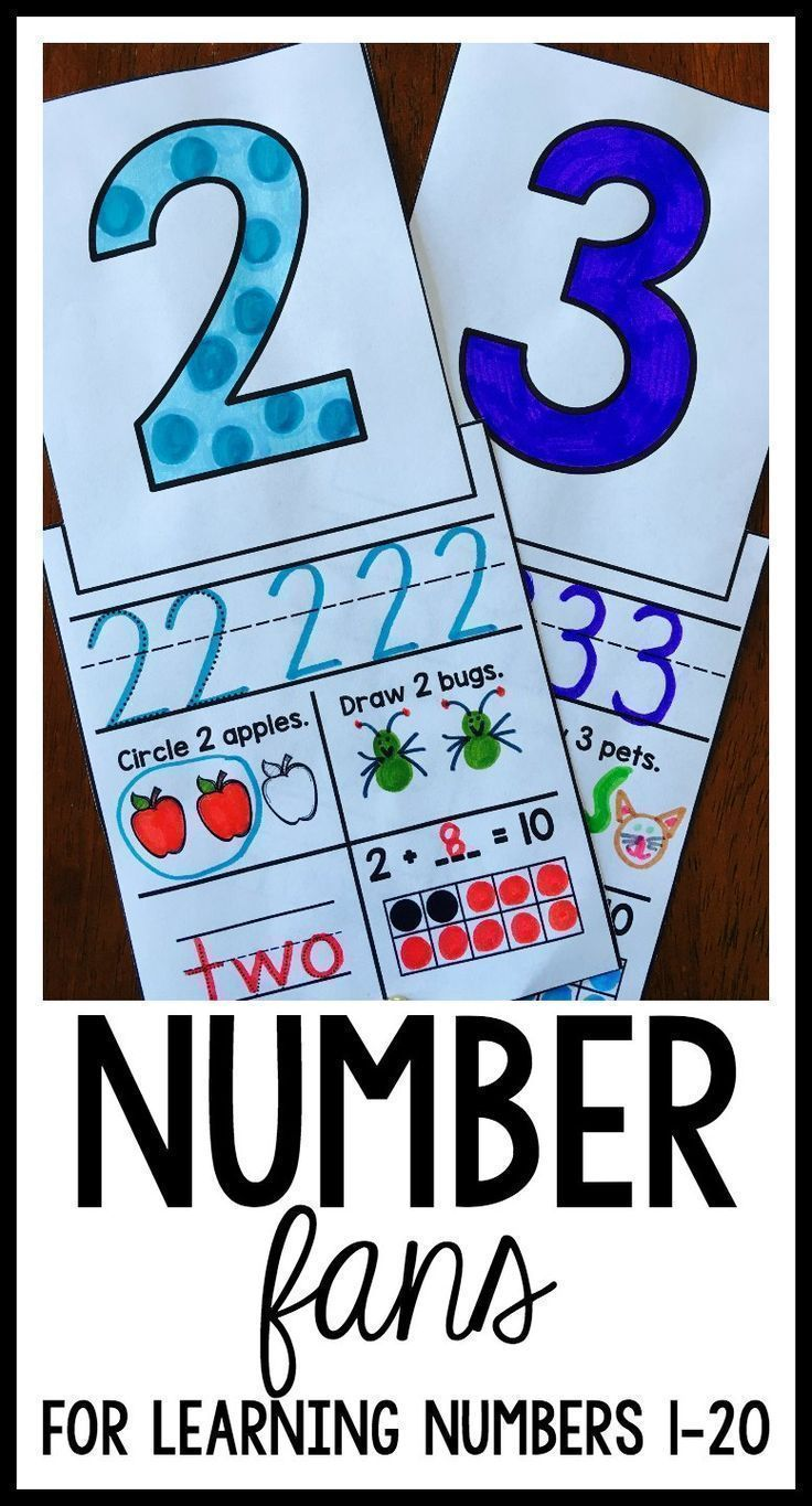 Numbers and Counting Fans | Writing numbers, Ten frames and Fun ...