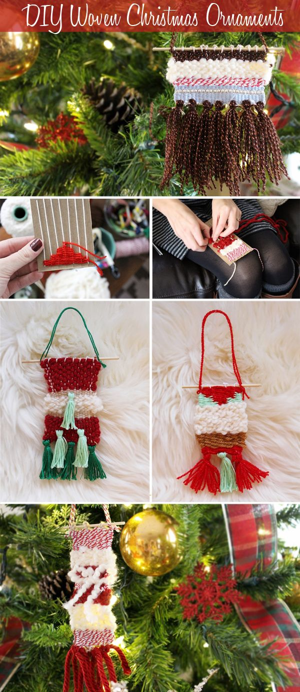 Anthropolgie inspired DIY woven christmas ornament handmade