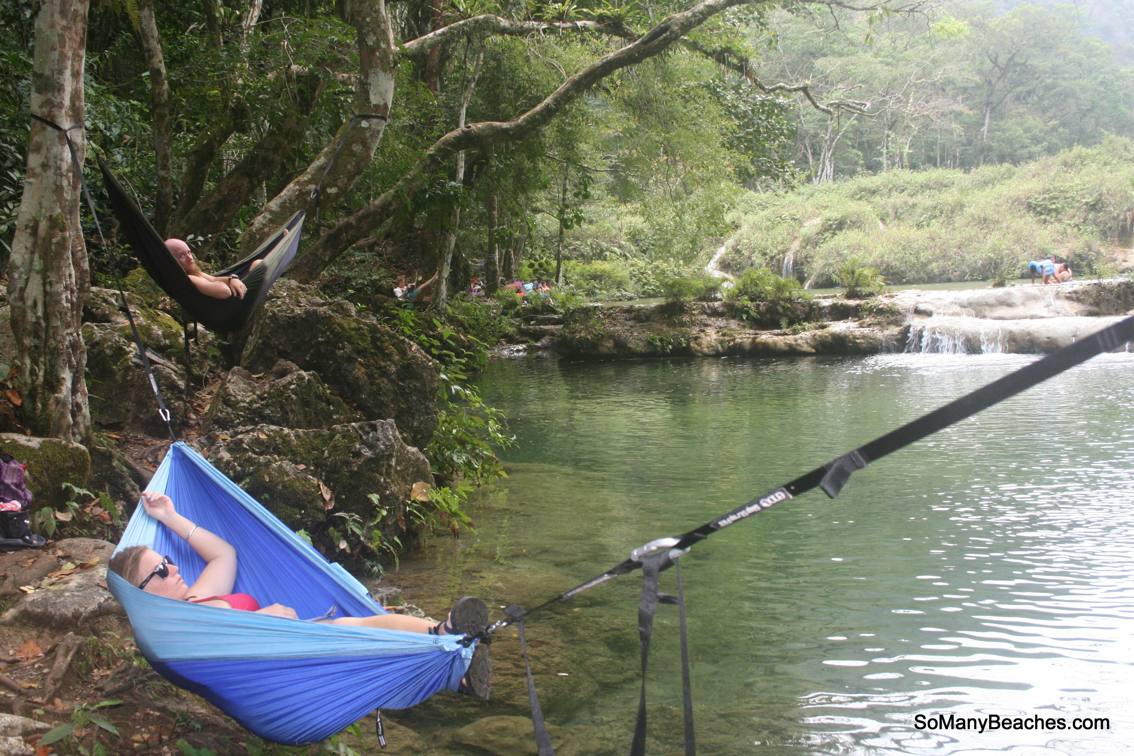 Blue Comfortable Eno Hammock Stand Designs For Outdoor