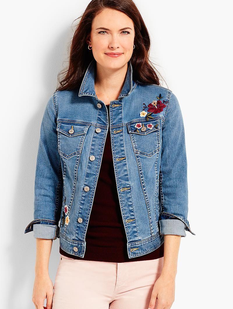 Buffalo David Bitton Floral Embroidered Denim Jacket - Jackets - Women -  Macy's