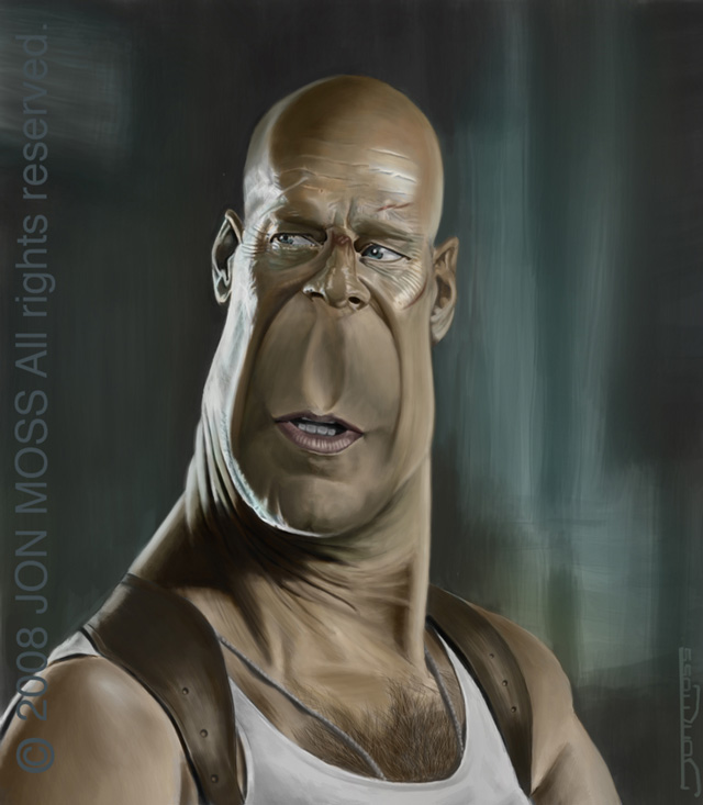 Bruce Willis Caricature by jonmoss77 on DeviantArt