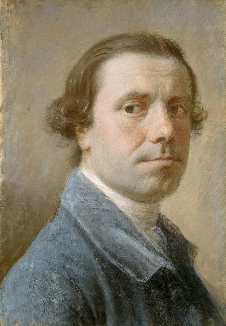 Allan Ramsay - Self portrait, ca. 1756 - From the National Galleries of Scotland