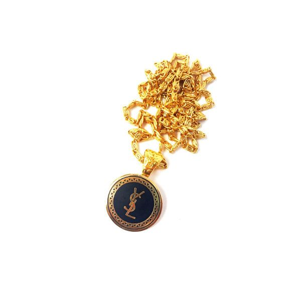 20dd732dbd7 Vintage YSL Repurposed Button Necklace by OldSoul50 on Etsy ...