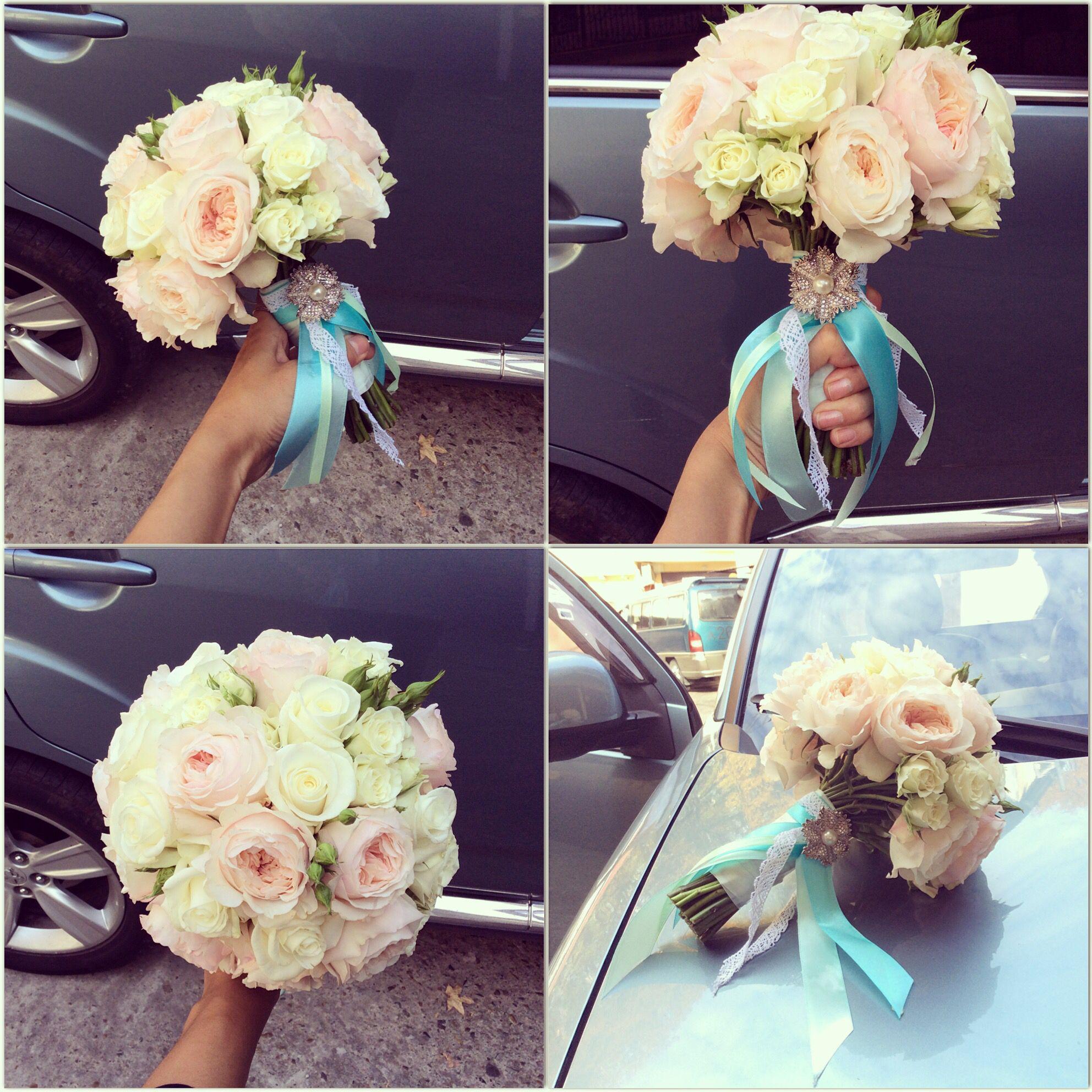 Букеты цветов на свадьбу для невесты фото
