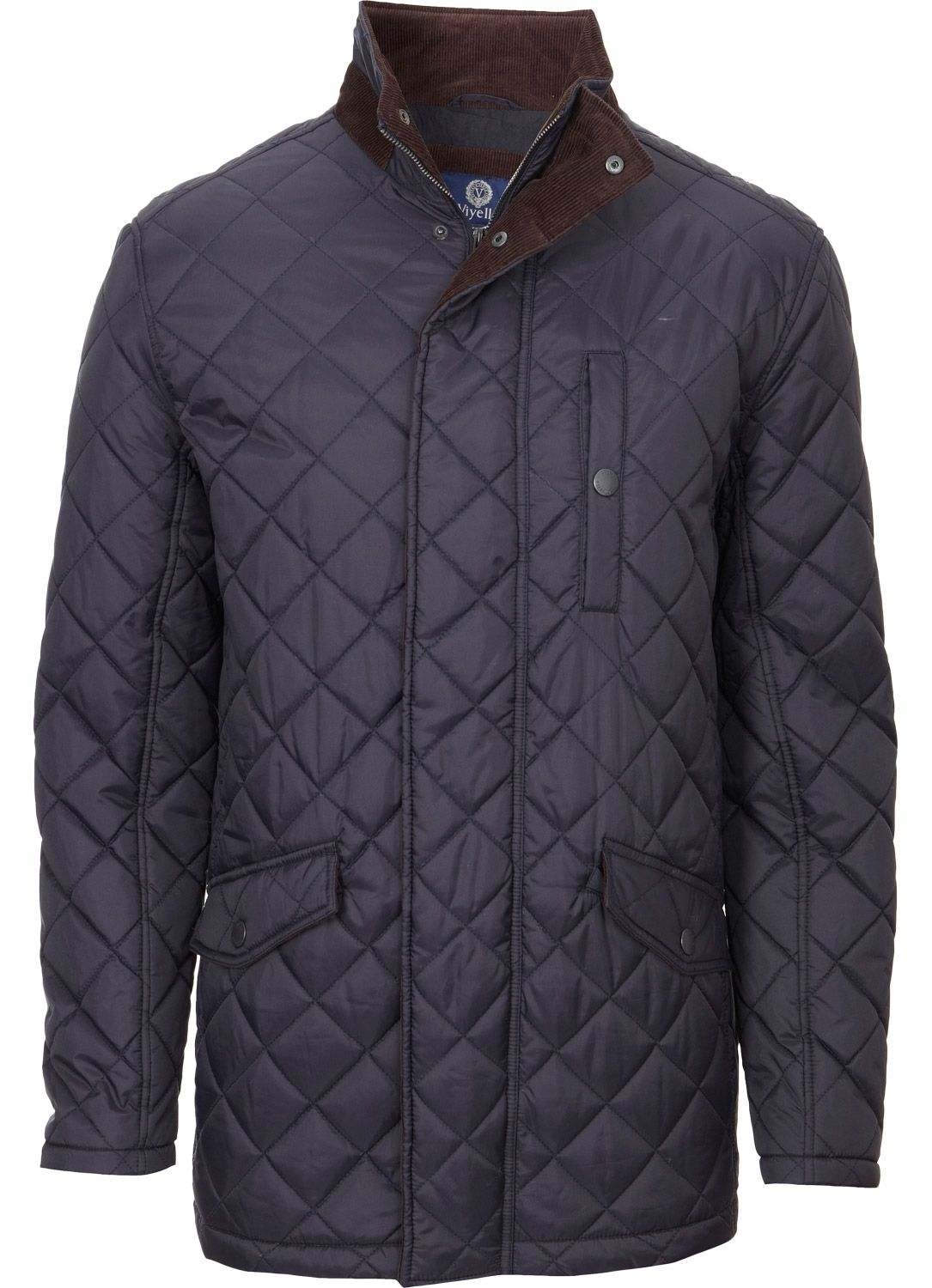 Viyella Navy Padded Quilted Jacket Outerwear Austin Reed