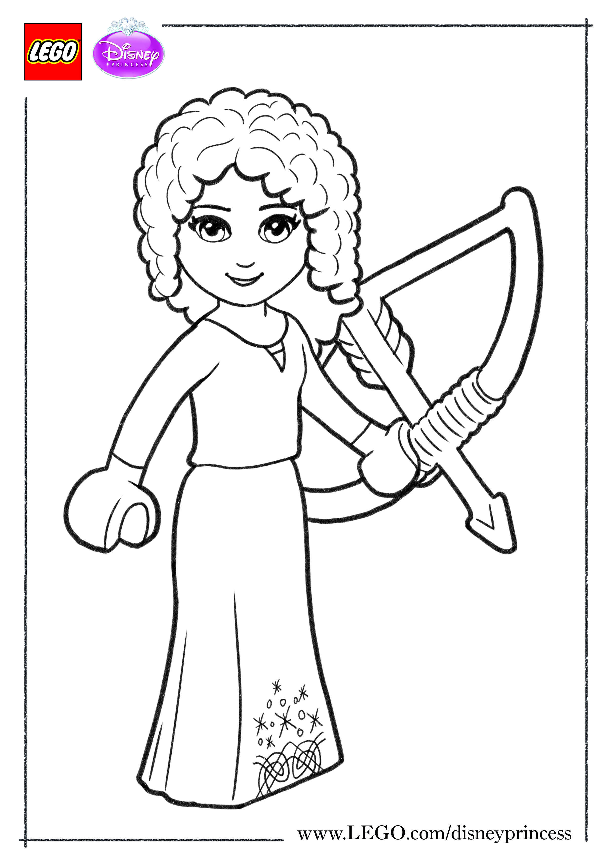 Print Out This Coloring Sheet And Give Merida A Little Color Coloringsheet Colouringshe Lego Coloring Pages Princess Coloring Pages Halloween Coloring Pages