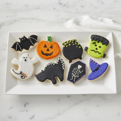 Assorted Halloween Cookies, Set of 8 #halloweencookies