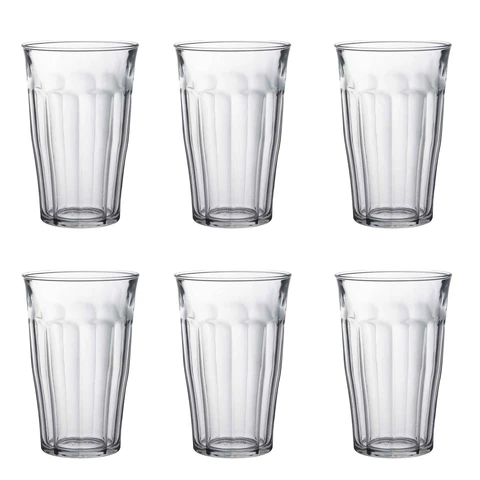 Duralex Picardie Traditional Tumbler Glasses 500ml Set Of 6 In