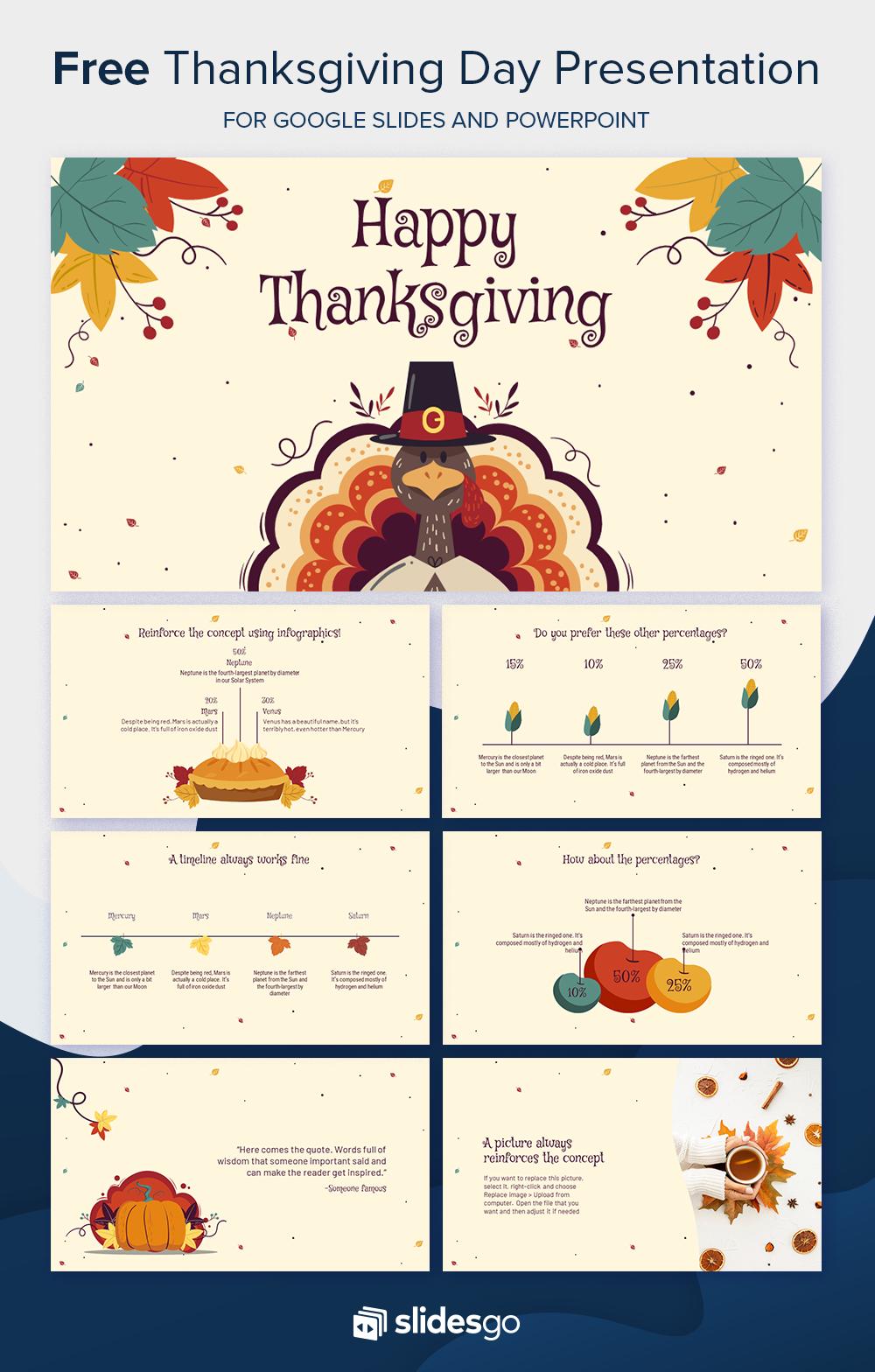 Free Thanksgiving Day Presentation Thanksgiving Design Presentation Template Free Print Design Template