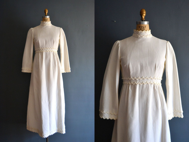 60s wedding dress / 1960s wedding dress / Elle Dresses