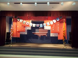 backdrop idea  | let's put on a show  | Music classroom