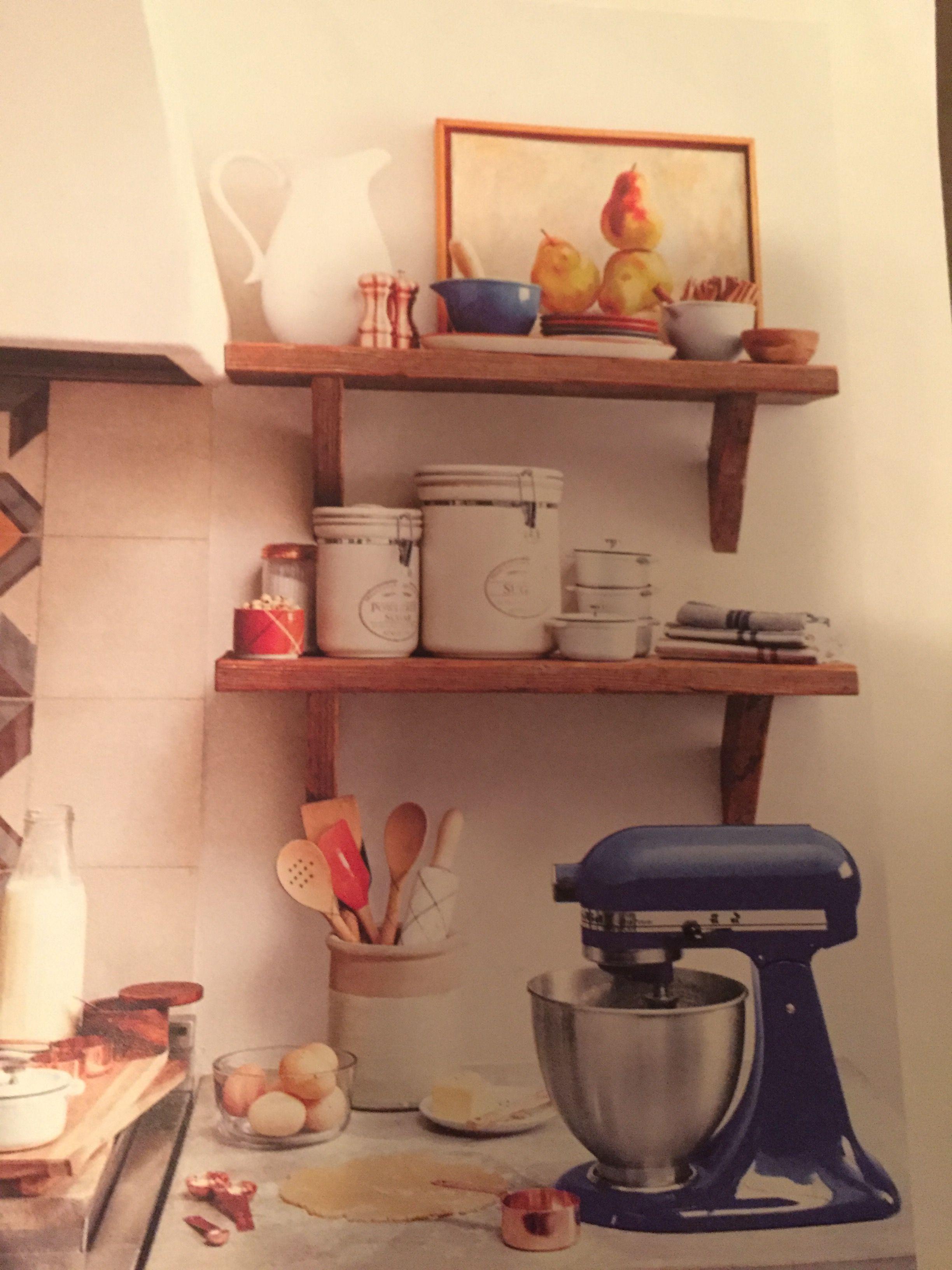 Kitchen dishes floating shelves