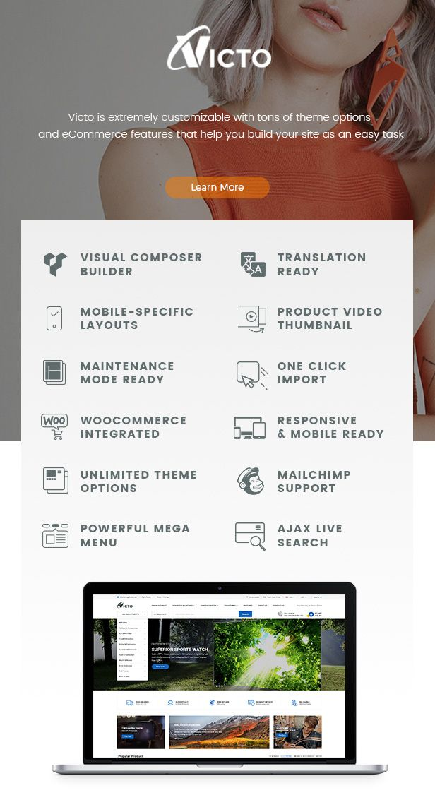 Victo - Professional eCommerce & MarketPlace WordPress Theme (Mobile ...