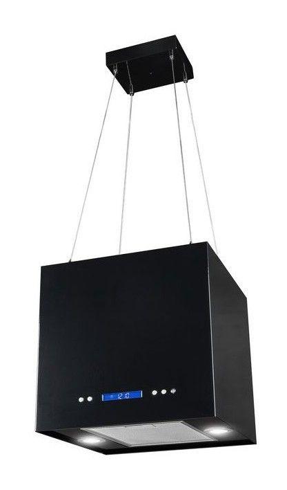 Hotte aspirante ilot SANDY GLASS 41cm Noir - MP-4410 (noir)AHD - hotte de cuisine  cm